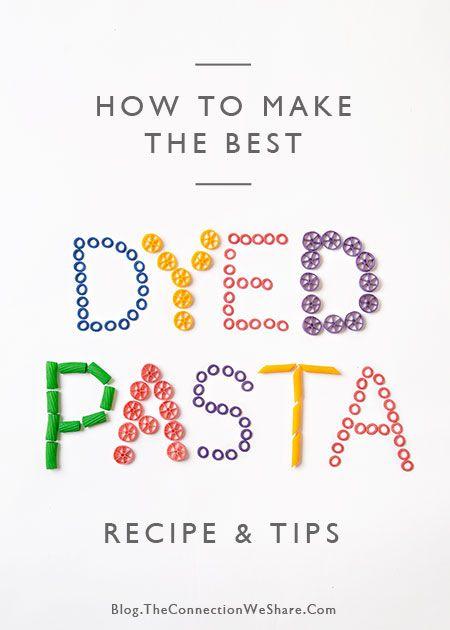 hoe pasta voor kinderen ambachten kleurstof
