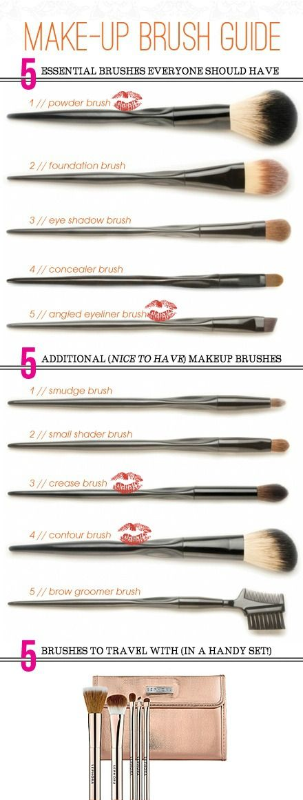 Having the right tools and knowing how to use them can make a huge difference in your makeup application and technique but it can be a daunting task! What are your options? What do you need? This is a perfect Guide to Makeup Brushes & Tools!   Pin now for reference later!