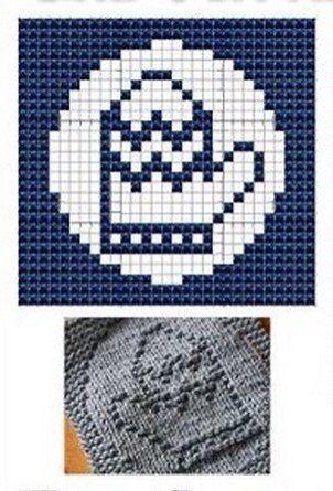 Mitten Knit Dishcloths Pattern