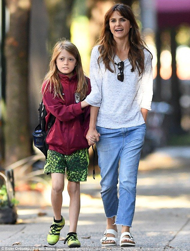 Pride and joy: On Friday, Keri Russell enjoyed some family time with her 10-year-old son R...