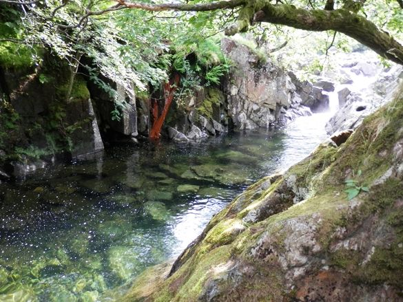Top 5 Lake District hidden gems - Fairy Glen Wild Swimming Borrowdale, Cumbria