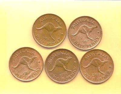 Ha' pennies #australia #coin #downunder #kangaroo