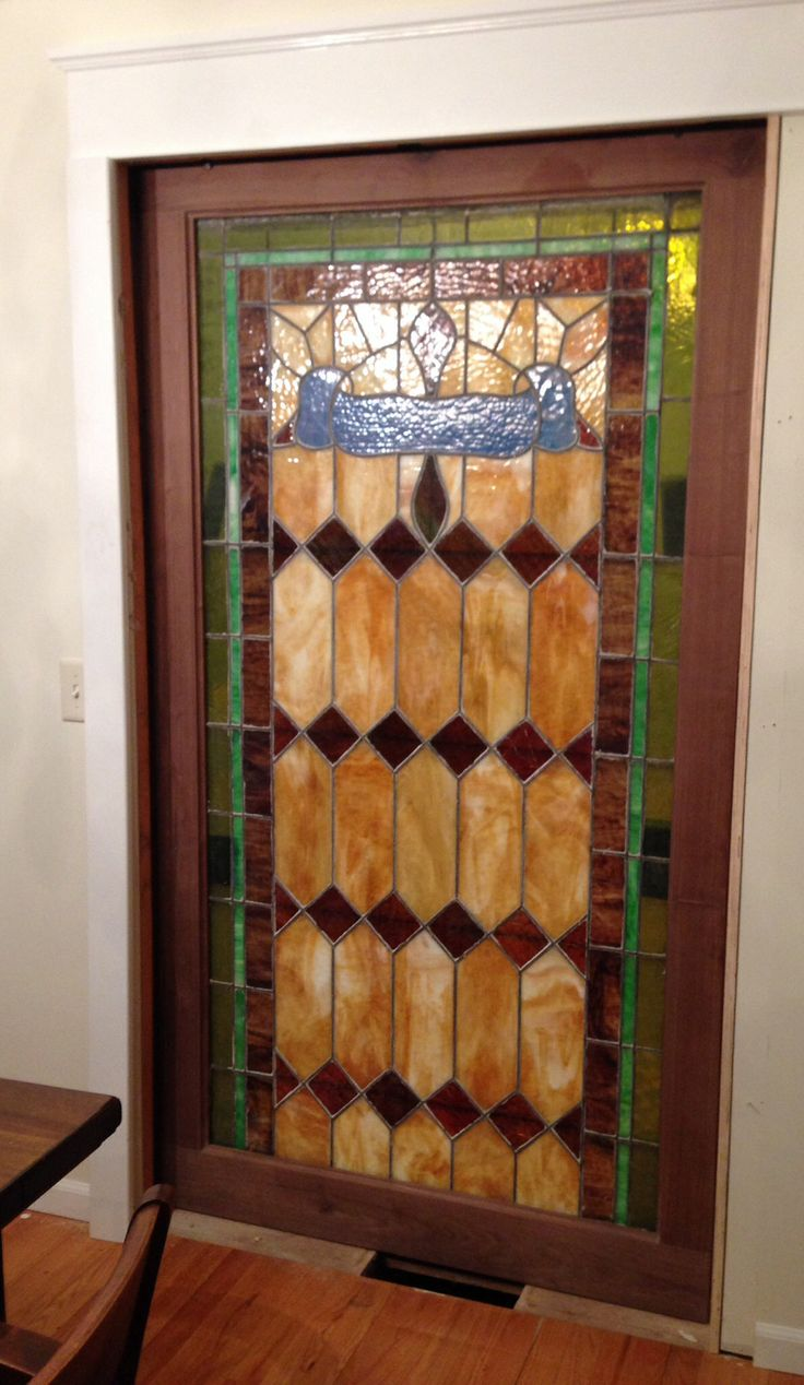 Stained glass pocket doors - My Husband Installed Almost This Beautiful Stained Glass Glass Pocket Doorsbirthday