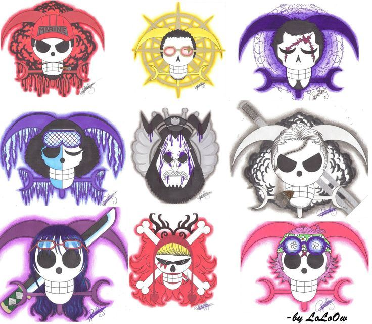 1000+ images about OP - Jolly Roger on Pinterest ... Official One Piece Jolly Rogers
