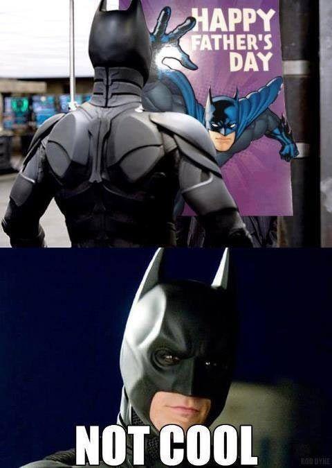 Batman is not amused.