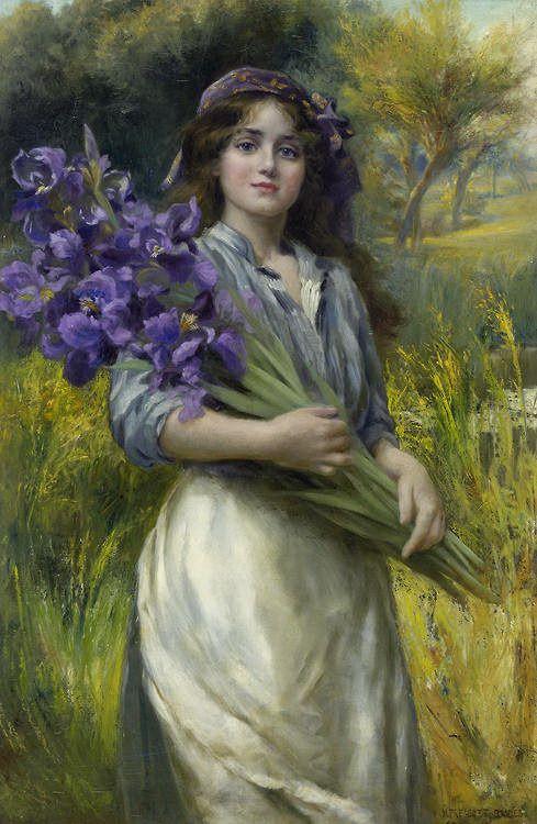 Iris – ~ Norman Prescott-Davies ~ 1880 – 1910
