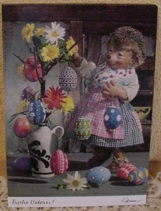 Postkarte Mecki 360 Ostern