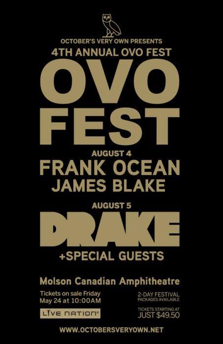 Drake Announces 4th OVO Fest Lineup |  | Concert Info