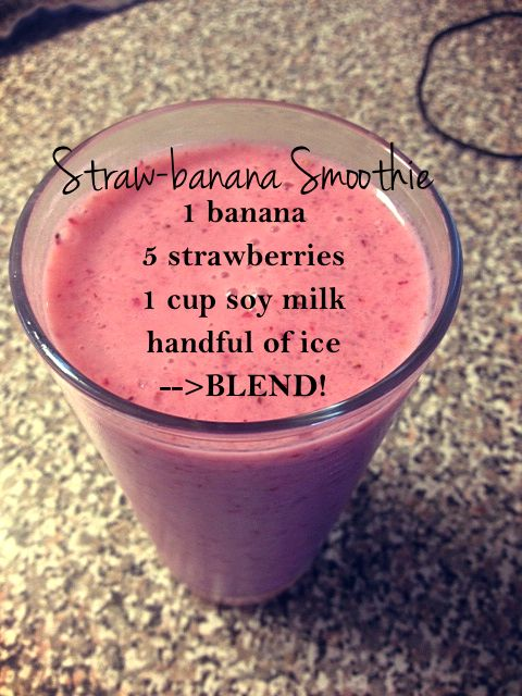Strawberry Banana Smoothie                   Used skim milk instead and added chocolate syrup :)