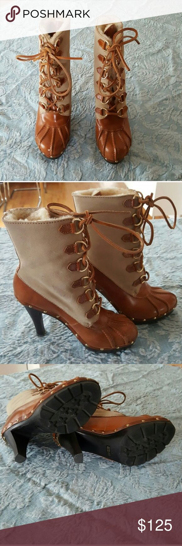 Michael Kors leather and shearling winter boots Michael Kors leather and shearling winter boots Michael Kors Shoes Heeled Boots