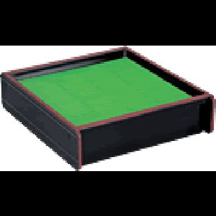 Noodle / Nori Makki Tray Large      Availability : In Stock     Dimentions : 197mm x 190mm x 54mm     Pieces Per Item : 2     Colour : Black & Green     Material : ABS     Finish : Laquer     Weight : 410g  Price : $12.95