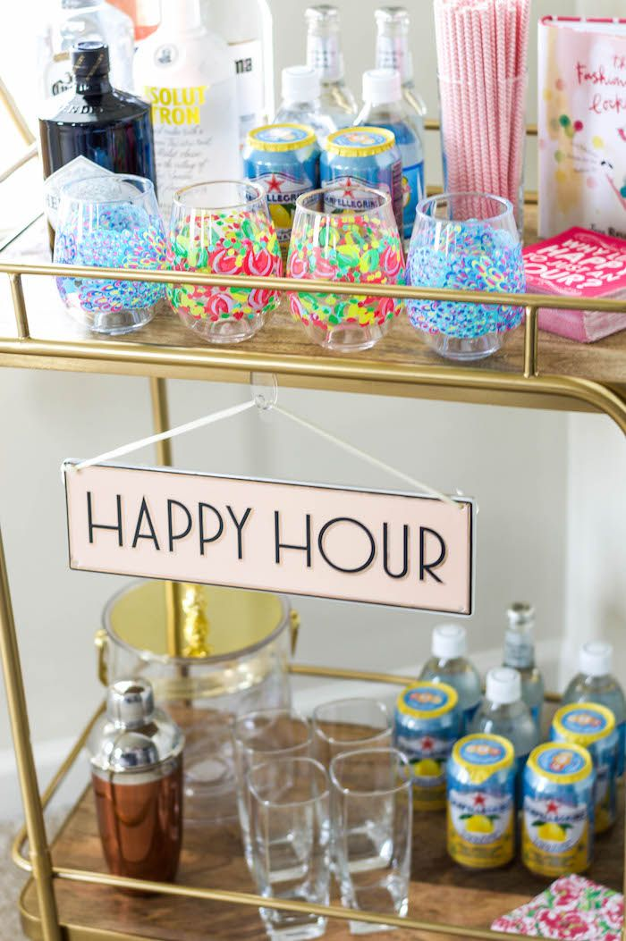 I found an affordable bar cart and immediately had to decorate it! Check out how I styled mine and tips for creating the perfect bar cart for your guests.