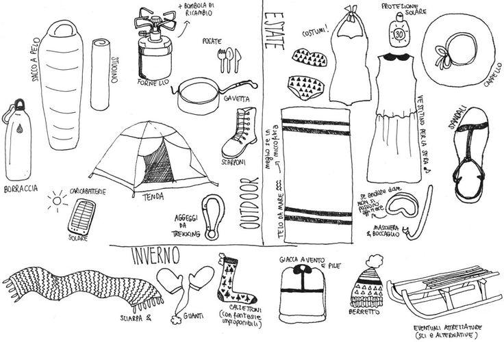 Cosa mettere in valigia? Lista aggiunta estiva - invernale - outdoor @viachesiva
