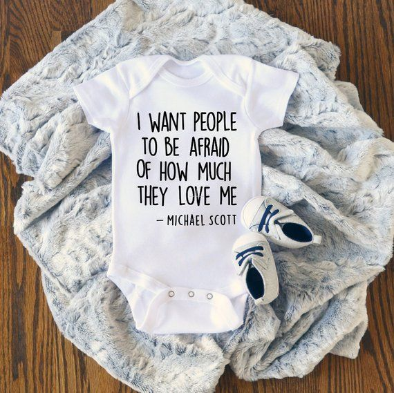 THE OFFICE I Want People to be Afraid of How Much they Love Me, The Office Onesie, The Office Baby Gift, The Office Baby Clothing