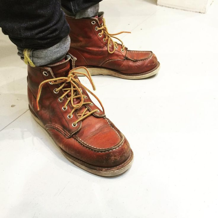 "Red Wing Shoe Store AmsterdamさんはInstagramを利用しています:「These beautiful Red Wing Shoes 8131 6"" Classic Moc in Oro Russet are almost ready for a resole. They are 4 years old and still going strong. Go Hung! 