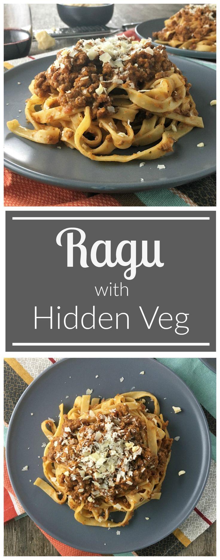 A rich pasta meat sauce with hidden veg the kids won't see...