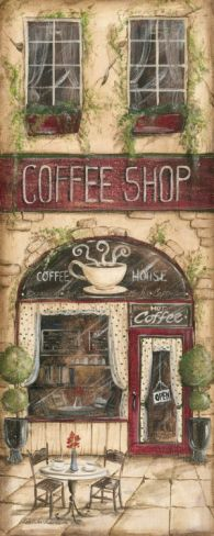 Coffee Shop Print by Kate McRostie at Art.com