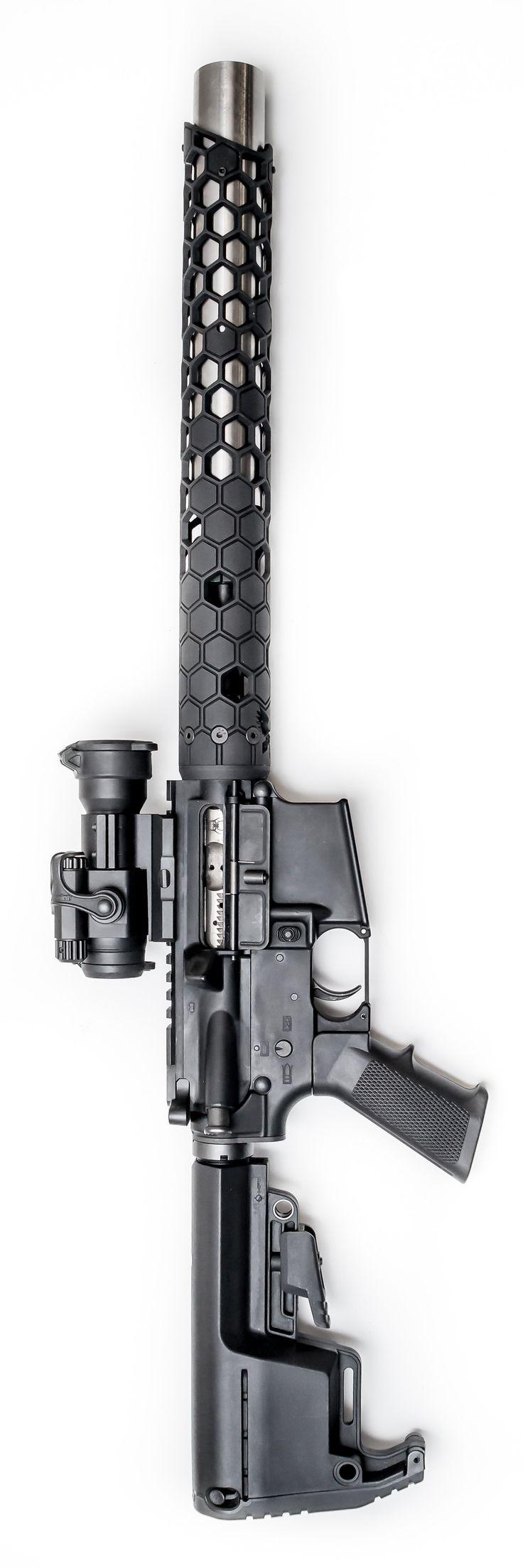 Integrally Suppressed AR-15 Upper in .223 5.56 Caliber - NEW Integrally Suppressed 5.56 NATO AR Rifle Firearm Upper design by Witt Machine & Tool. @aegisgears
