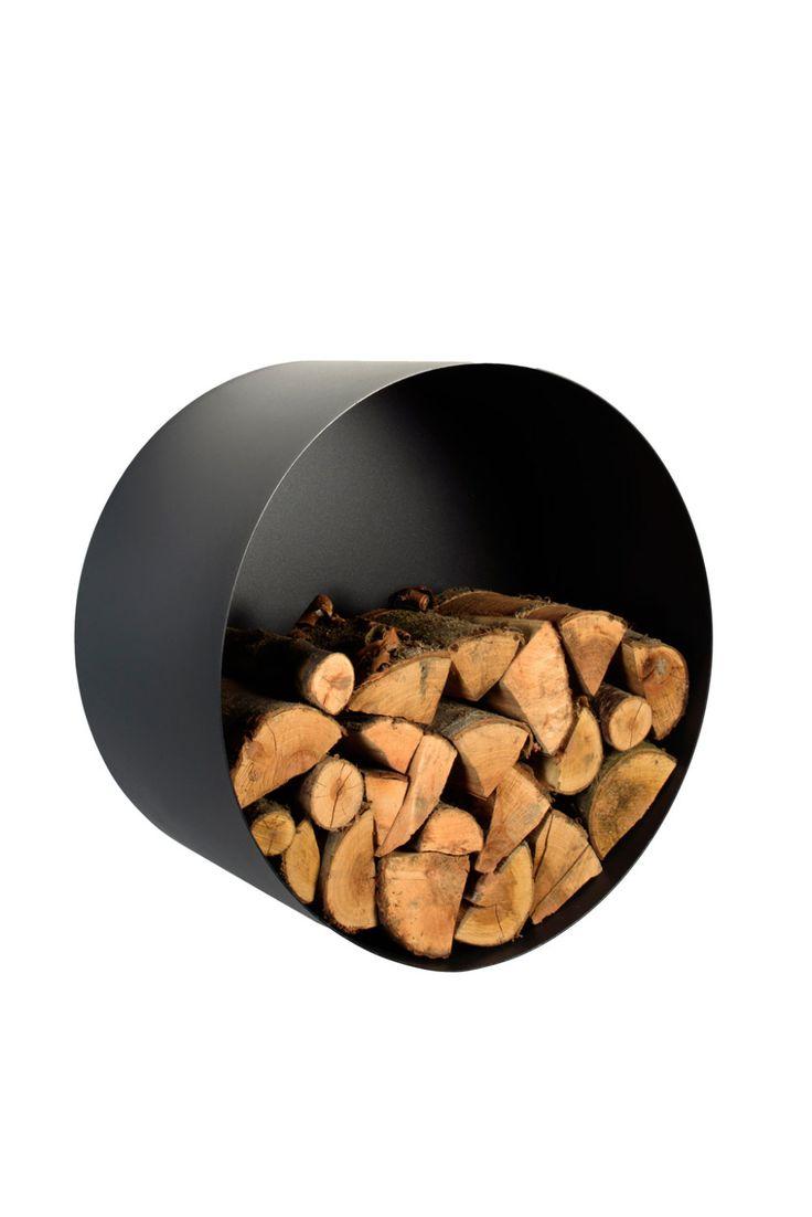 Metal Firewood Holder - Circle by KureliDesign on Etsy