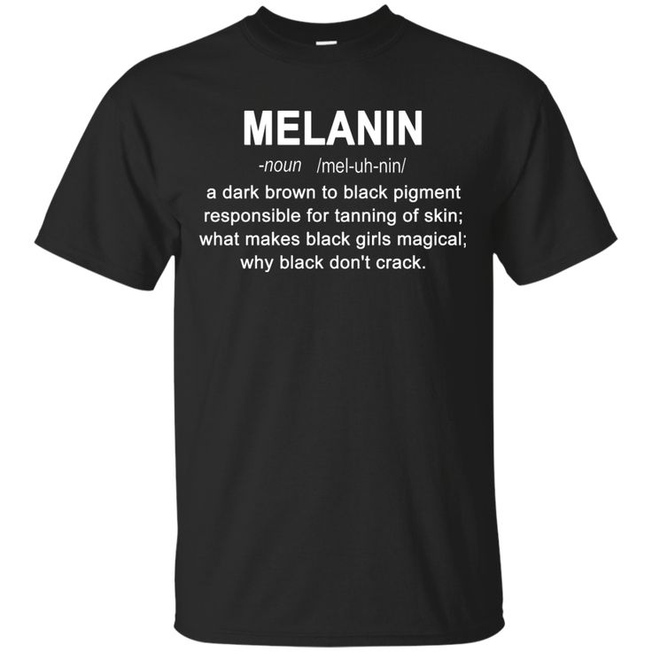 Melanin definition shirt hoodie: Black girls magical sold by iFrogtees