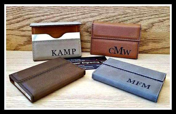 Leather business card holder custom engraved boss gift best leather business card holder custom engraved boss gift colourmoves