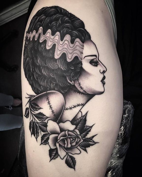 olio.tattoo Horror Bride Tattoo by @juddbowman from Black Diamond Tattoo - Venice, CA @juddbowman #horror #bride -- More at: https://olio.tattoo/tattoo-images/mentions:horror