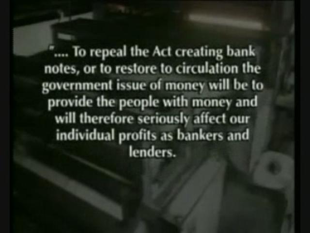 The Money Masters [Greek Subtitles] by Zeitgeist Greece. Αναλύει ολόκληρη την ιστορία πίσω από την τρέχουσα οικονομική κρίση και το πώς ο στόχος για παγκόσμιο οικονομικό έλεγχο κρύβεται πίσω από μια πολύ μικρή αλλά παρόλα αυτά πανίσχυρη «συμμορία» τραπεζιτών η οποία δρα ανενόχλητη πέρα από κάθε νόμο και κάθε κυβέρνηση.