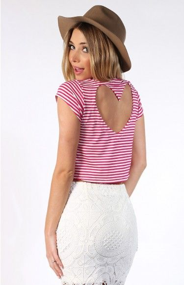 Lover Crop Pink Stripe