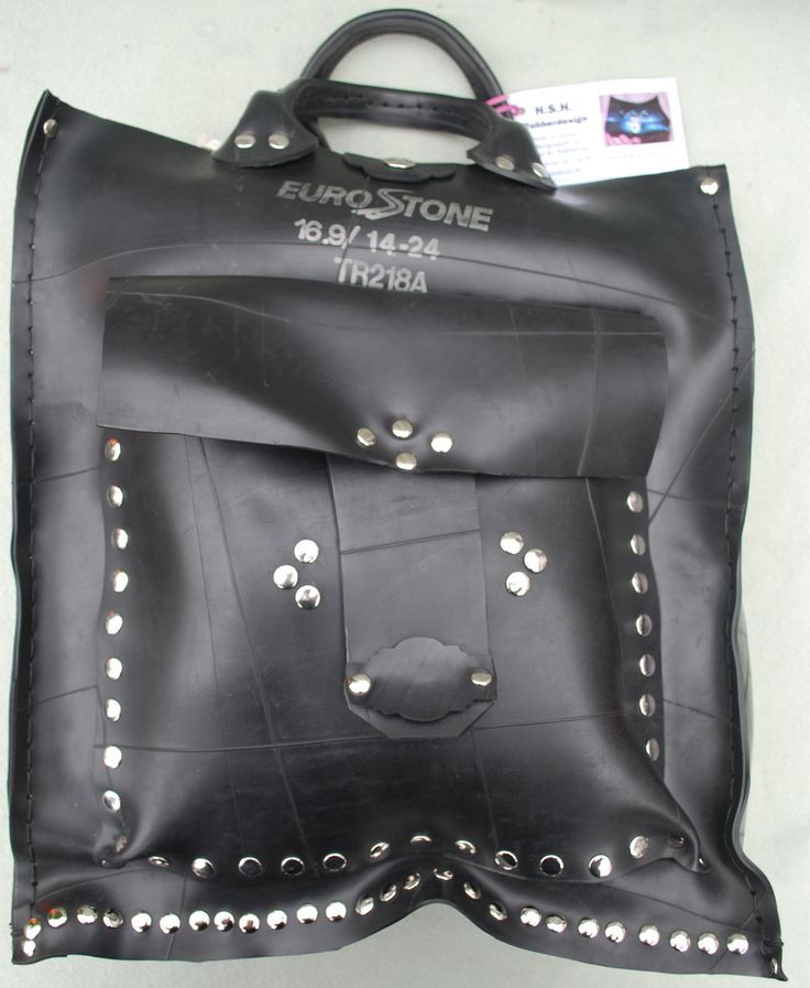 Recycled rubberbag.