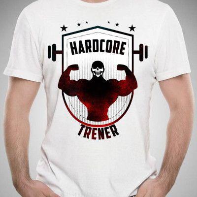 Koszulka Hardcore Trener T-shirt GYM #gym #siłownia #koszulka #moda #men #power #muscle