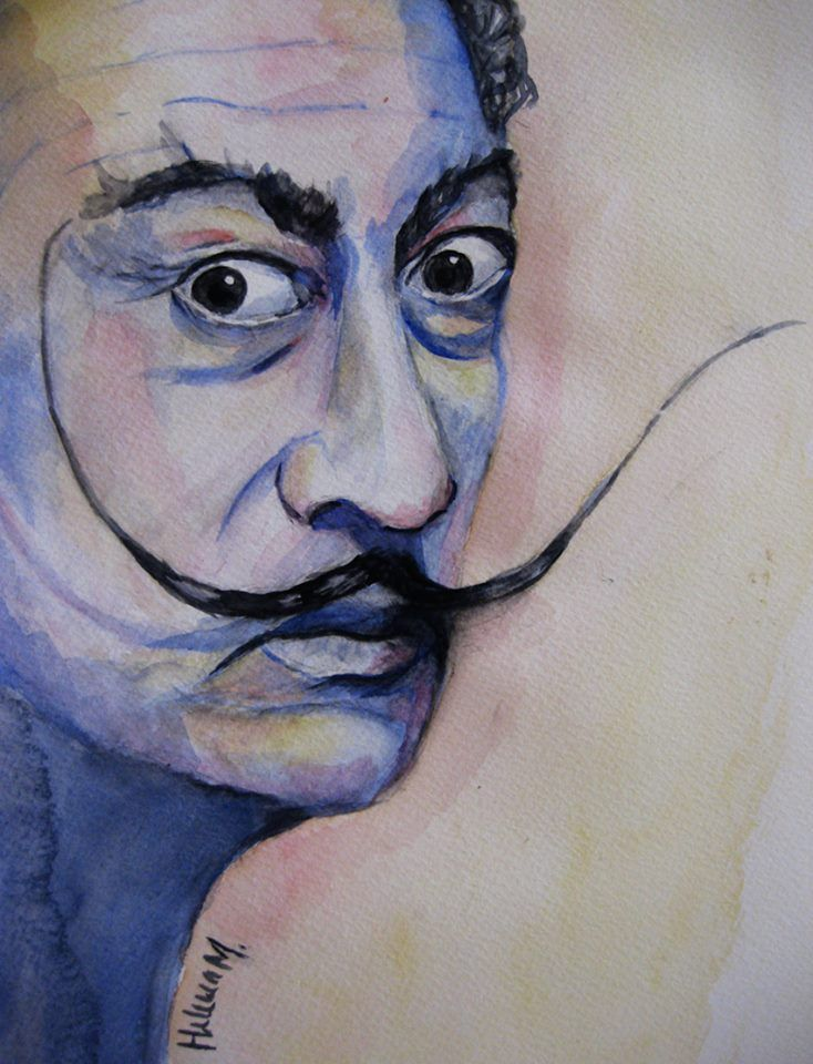 watercolor Dali