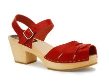 Peep Toe High in red!