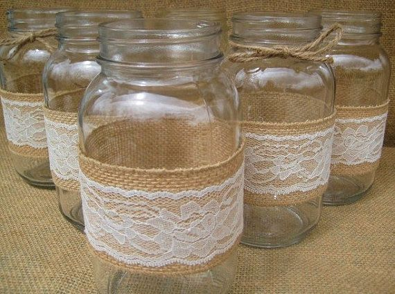 RESERVED for JEN B Rustic  Burlap  &  Lace by goodbuyNoraJean
