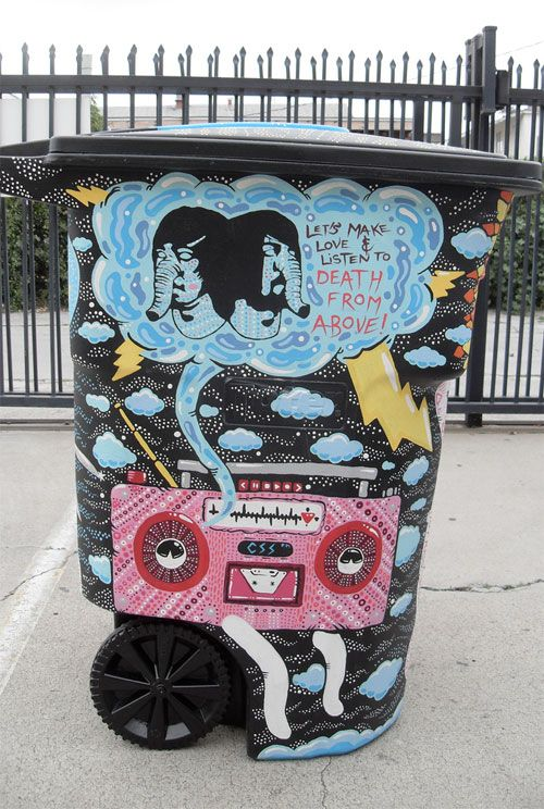 Painted Recycle Bins