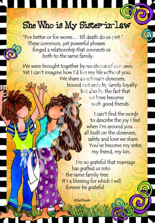 Sister in Law – 8x10 Gifty Art 1