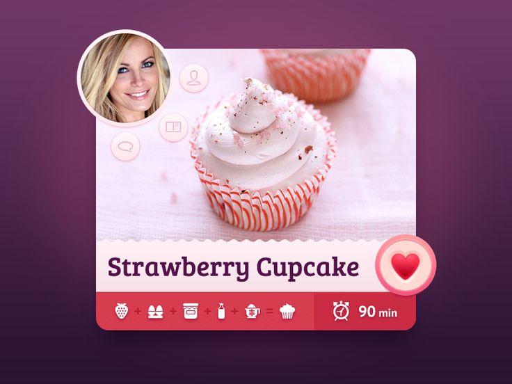 Sweet Recipes app concept