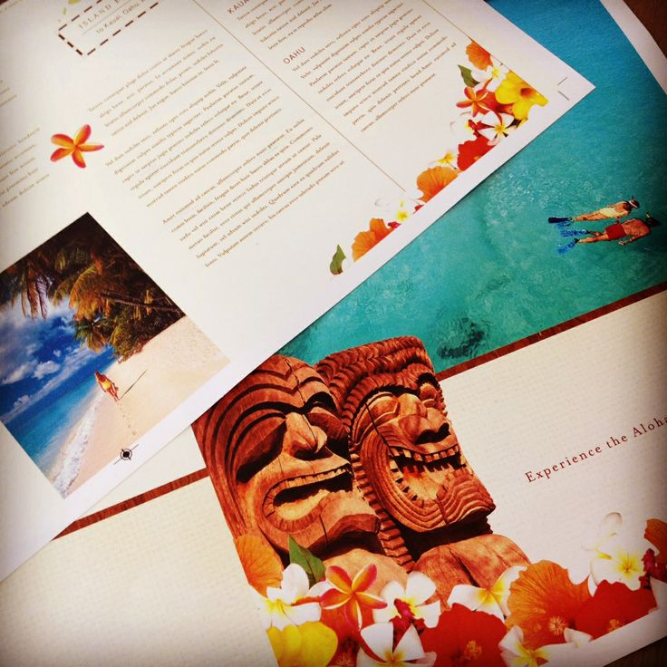 17 best images about travel tourism marketing on for Hawaii brochure template