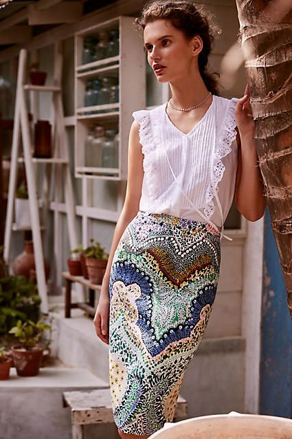Great summer work outfit from Anthropologie | Locations in Alpharetta, Sandy Springs and Buckhead  www.hospitalityhighway.com