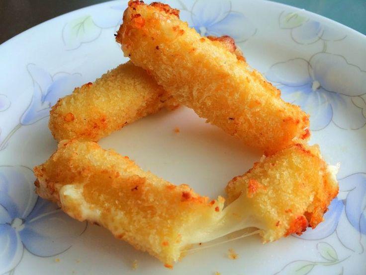 Singapur Inicio Cocineros: Airfried (hecho en casa) palitos de mozzarella Queso de Michelle Heng