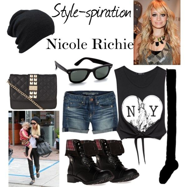 """""""Style-spiration Nicole Richie"""" by caryvanessa on Polyvore"""