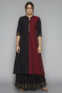 Utsa by Westside Black Printed Skirt