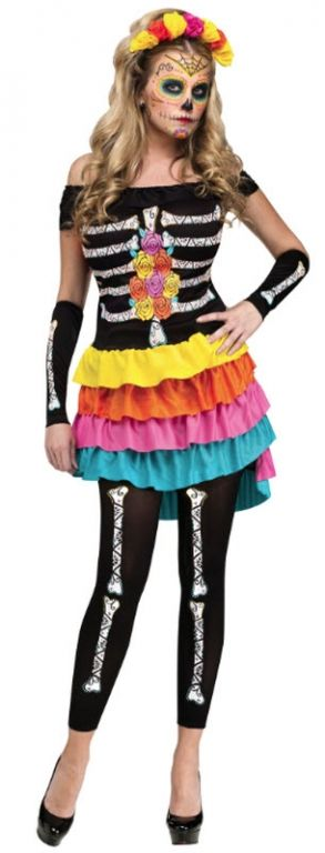 buy adult day of the dead dia de los mueros costume available for next day delivery celebrate the famous mexican holiday this halloween with our adult day - Mexican Themed Halloween Costumes