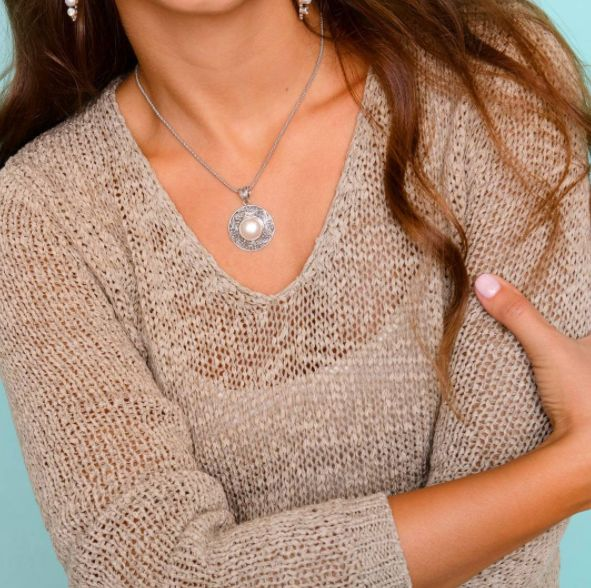 Are you ready to do more in 2017 with less stress? Our luminous round pearl pendant helps connect you to the calm, gentle tides of the ocean. This stress relieving gemstone; soothes, calms, and relaxes the emotions by helping them stay harmonious and balanced while enhancing positive, uplifting feelings.  #jewelry #gemstone #gemstones #pearl #pearls #motherofpearl #stress #anxiety #worry #ocean #waves #health #emotions #stones #healing #natural #sterlingsilver #ootd #gem #chakra #weekend