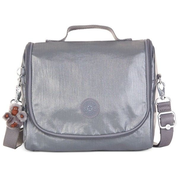 Kipling Handbag, Kichirou Print Lunch Bag (3,580 INR) ❤ liked on Polyvore featuring home, kitchen & dining, food storage containers, steel grey multi, kipling and kipling lunch bag