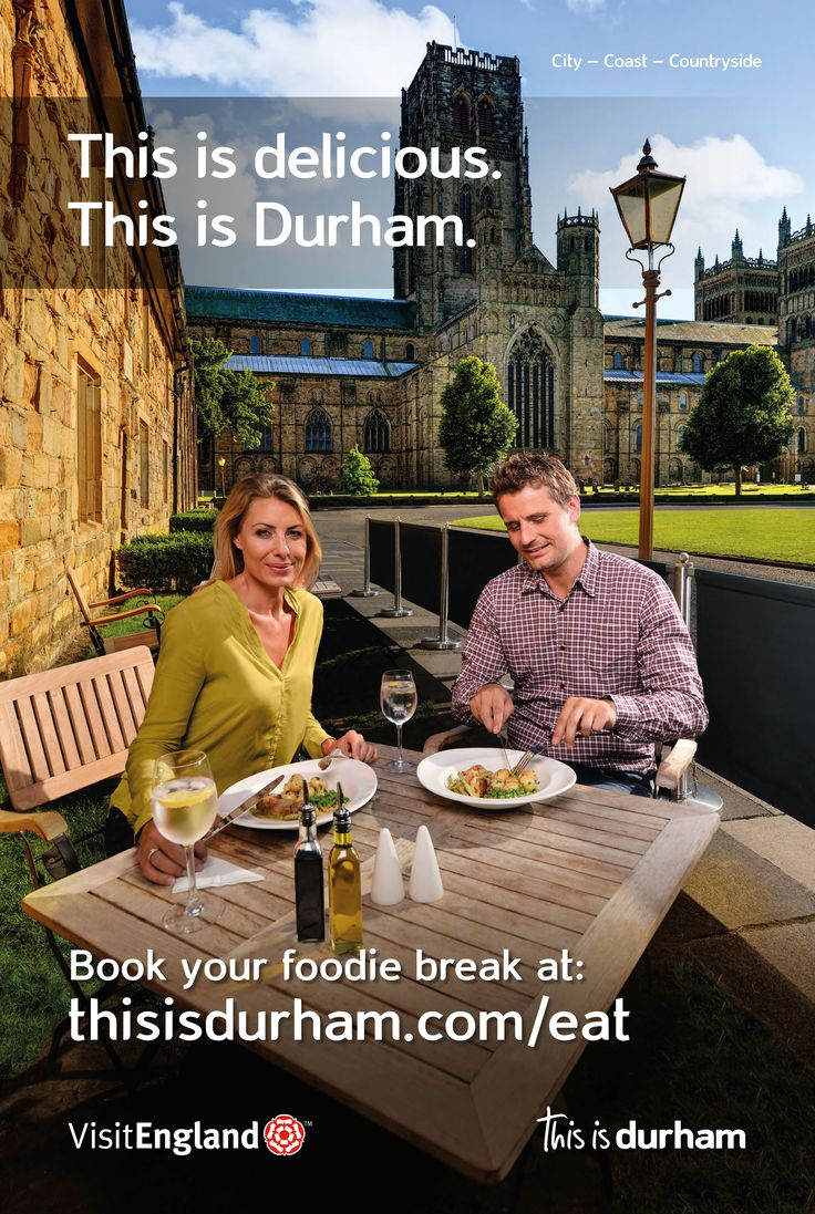 Amazing food in amazing places - find out more about the fantastic #foodie experiences you can have on a trip to Durham!