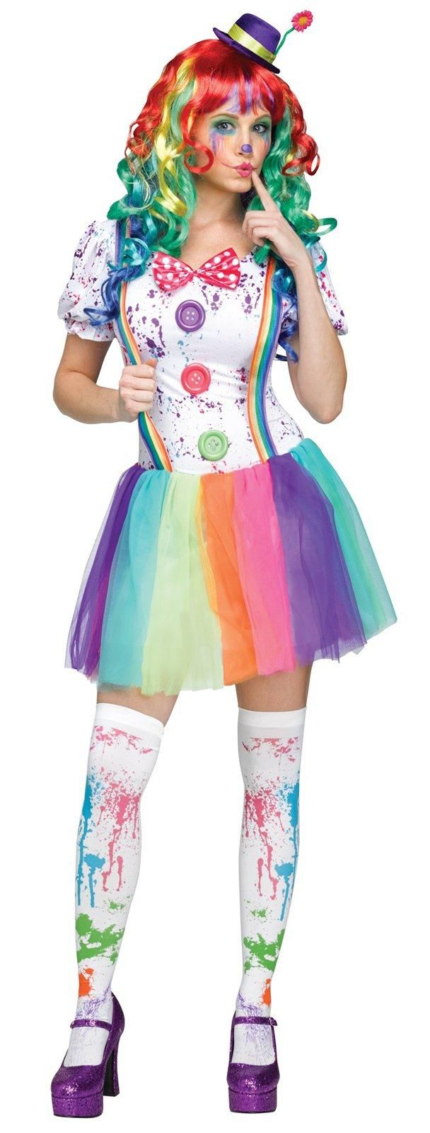 crazy color clown costume for adults - Funny Halloween Costume Ideas Women