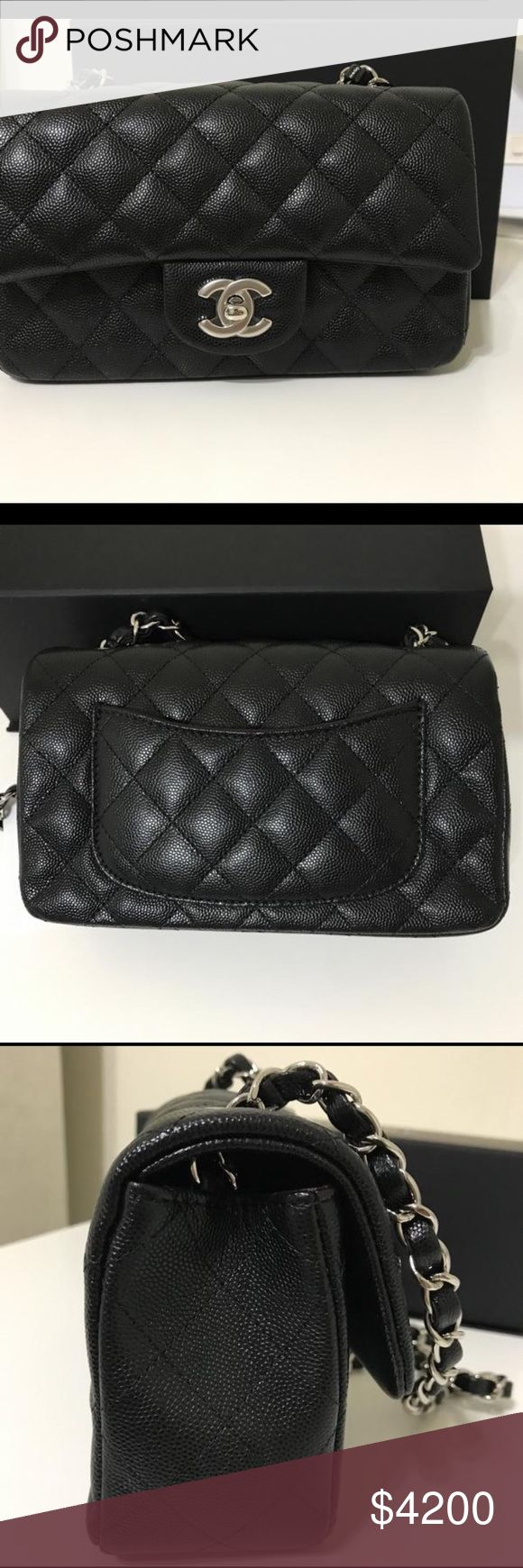 """Chanel Caviar Rectangular Black Cross Body Bag ❗️❗️ On Sale ❗️❗️ Chanel 17b Caviar Rectangular Mini With Silver Hardware Black Cross Body Bag  Condition: Brand New Size 7.75""""L x 2.75""""H x 4.75""""W 100% authentic or your money back guaranteed. Cheaper if you buy it out of posh through PayPal, email me at luxurydesigners12 yahoo com CHANEL Bags Shoulder Bags"""