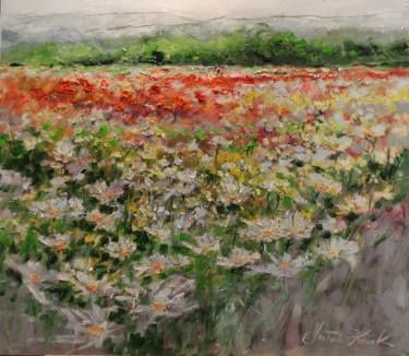"Saatchi Art Artist Margaret Raven; Painting, ""Daisies near forest"" #art"