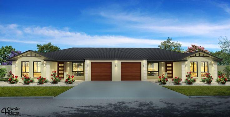 3D external Artist Impression of a duplex design for a home building company - Spencer Gulf SA