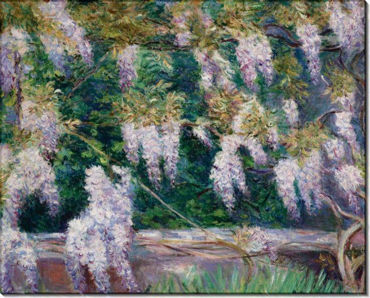 Купить картину Глицинии в Живерни, Моне, Бланш Ошеде — заказать репродукцию картины на холсте